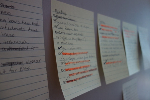 To-do lists before we leave