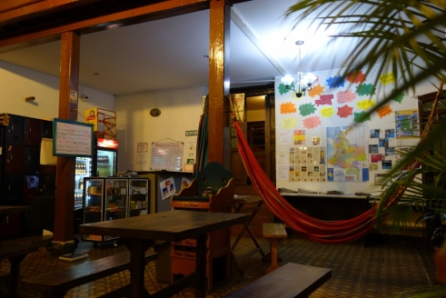 Our colourful hostel (Bogota, Colombia)