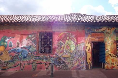 Graffiti in La Cadelaria (Bogota, Colombia)