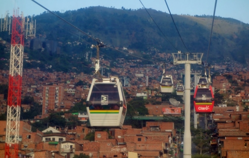 Cablecar to top of Santo Domingo (Medellin, Colombia)