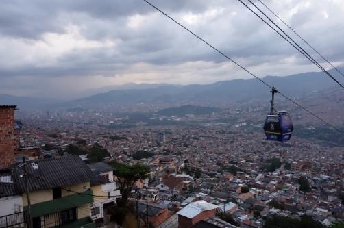 Cablecar to top of Santo Domingo (Medellin, Colombia)