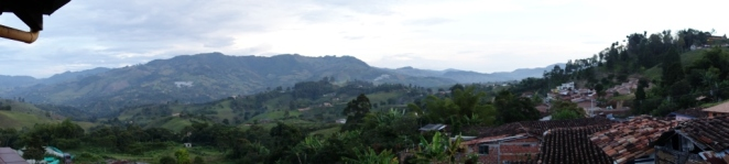 Panorama from Decio's balcony (Jerico, Colombia)