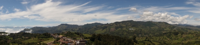 Panorama from the top of El Salvador (Jerico, Colombia)