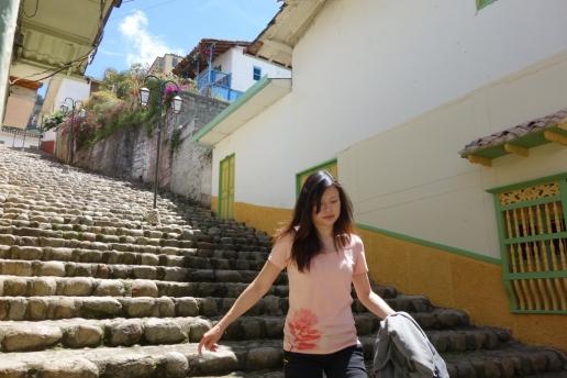Cobblestone staircases (Jerico, Colombia)