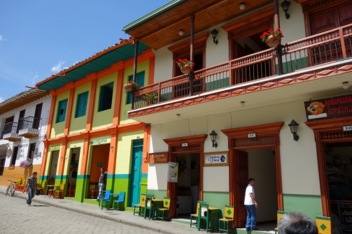 Colour buildings (Jardin, Colombia)
