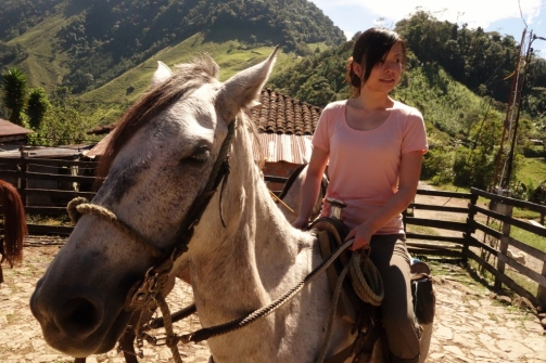 Jenn on horseback (Jardin, Colombia)