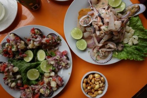 Ceviche stall food (Lima, Peru)