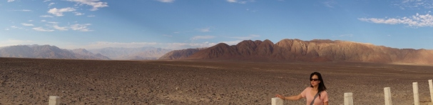 View of the Nazca desert from the PanAmerican Highway
