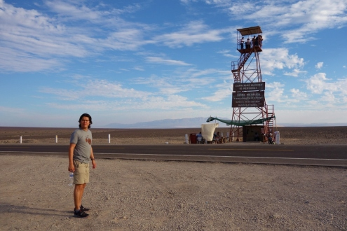 Mirador viewing tower in Nazca, Peru