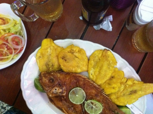 Deep-fried Mojarra (Cartagena, Colombia)