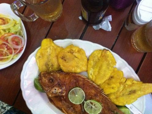 Deep-fried Mojarra (Cartagena, Colombia)