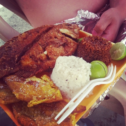 Deep fried red snapper (Cartagena, Colombia)