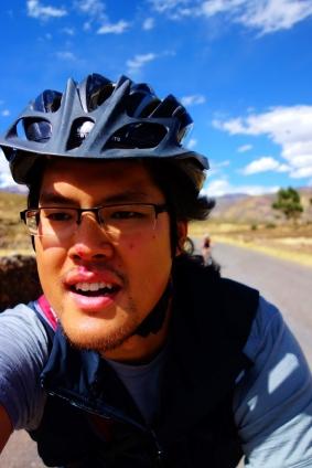 Biking around canyon country, Peru