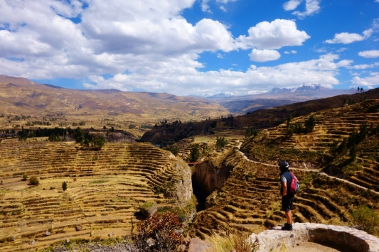 Incan terraces from Coporque to Yanque, Peru