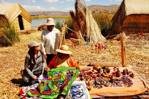 Uros floating islands (Lake Titicaca, Peru)