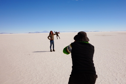 Perspective shots on Salar De Uyuni