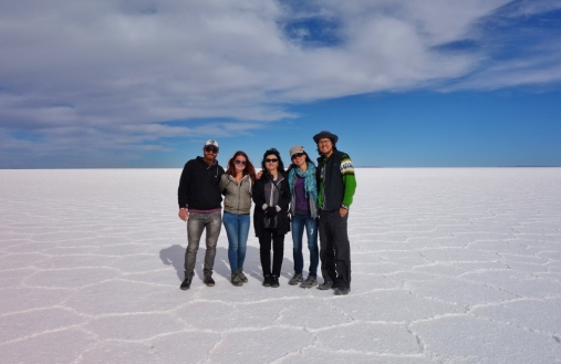 Our tour group for Salar De Uyuni