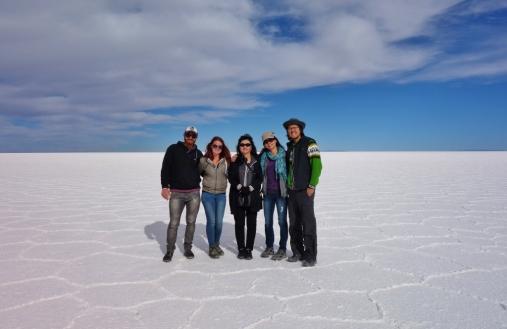 Our tour group for Salar De Uyuni