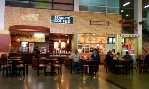 Food court in Santa Cruz, Bolivia airport
