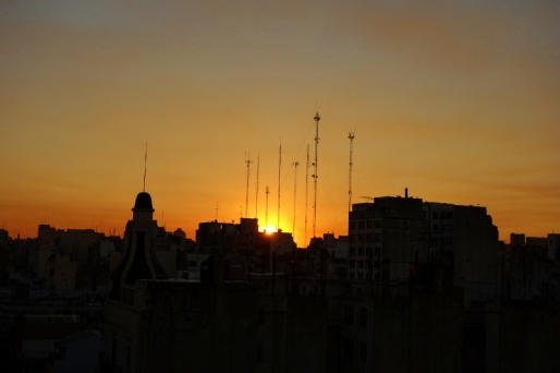 Sunset over Buenes Aires, Argentina