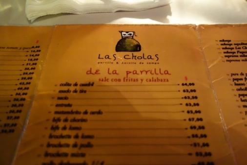 Las Cholas, a delicious parilla in Buenos Aires