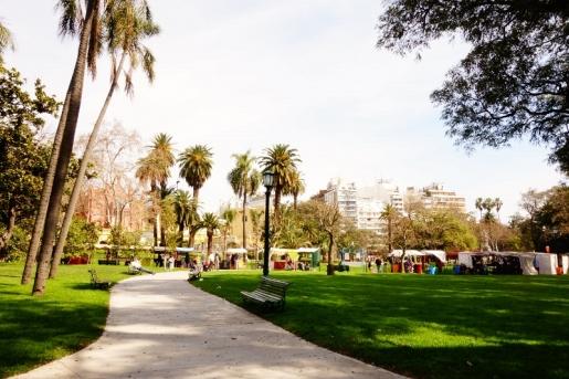 Parks and walkways in Recoleta