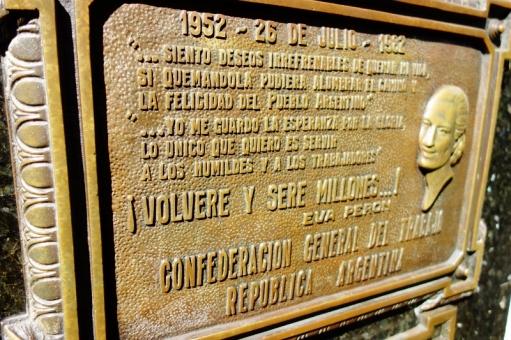 Eva 'Evita' Peron's final resting place