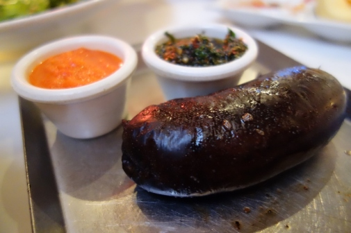 Blood Sausage (Morcilla) at La Cabrera