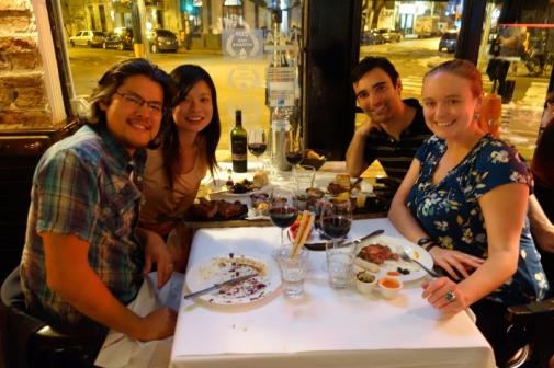 Dinner with Scott and Christina at La Cabrera