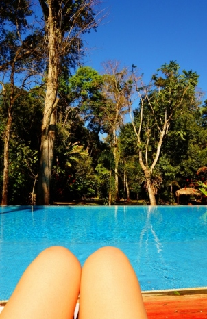The infinity pool at La Cantera, Puerto Iguazu