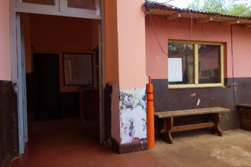Inside the little police station in Puerto Iguazu