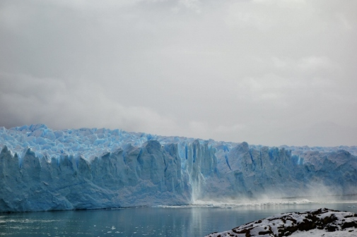 Southern side of Perito Moreno Glacier (glacier calving aftermath)