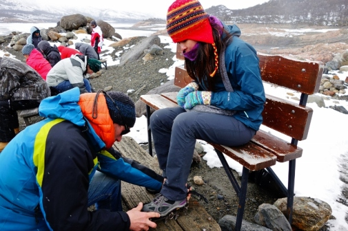 Crampons for the glacier trekking