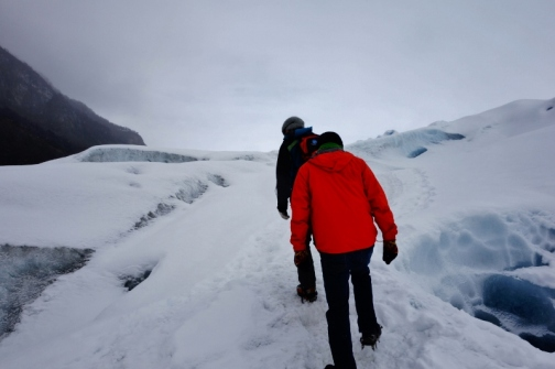Walking on Perito Moreno Glacier