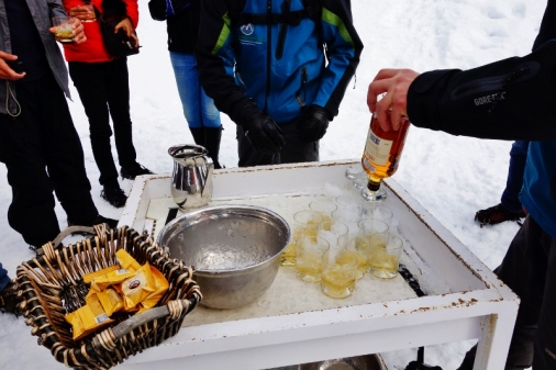 Refreshments during our glacier walk
