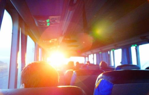 Bus ride from El Calafate to El Chalten