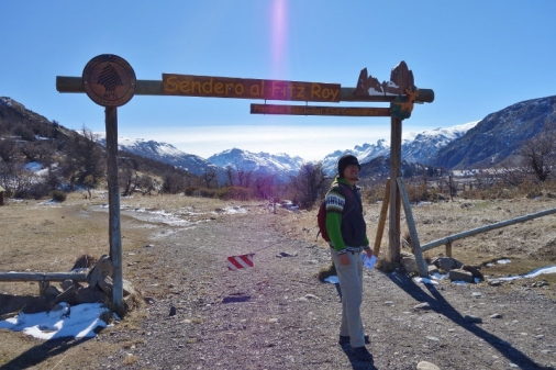 At the beginning of the Fitz Roy hike