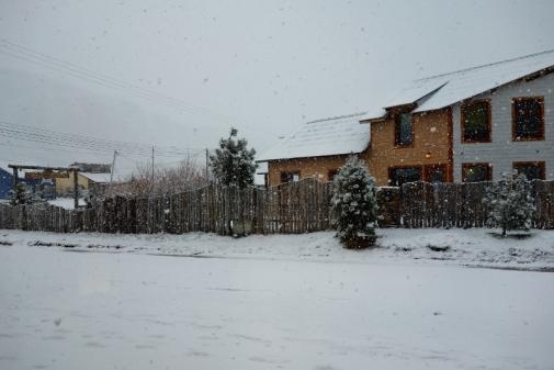 El Chalten covered in snow