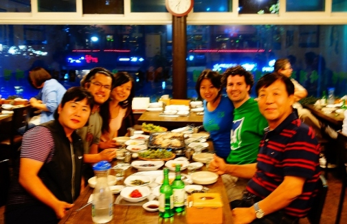 First meal in Korea with Jason's family