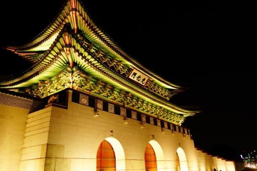 Front gates of Gyeongbokgung Imperial Palace (Seoul, Korea)