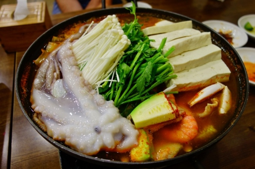 Seafood jjigae (Seoul, South Korea)