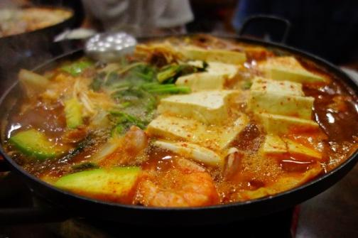 Seafood jjigae (Seoul, South Korea)