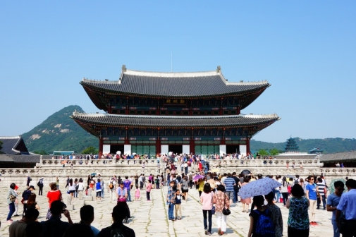 The main throne hall of Gyeongbokgung palace (Seoul, Korea)
