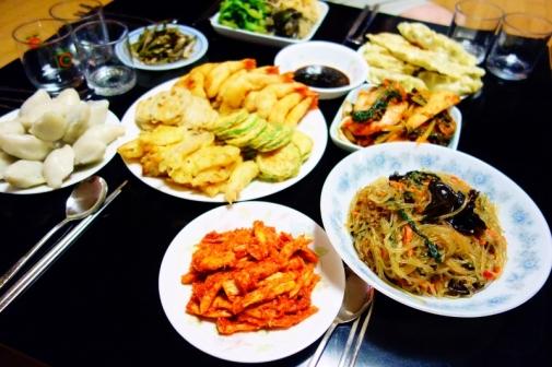 Home-cooked meal for Chuseok (Seoul, Korea)