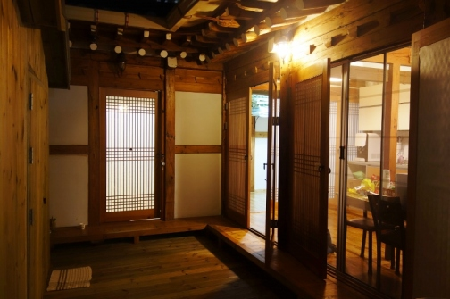 Inside the traditional hanok in Seoul