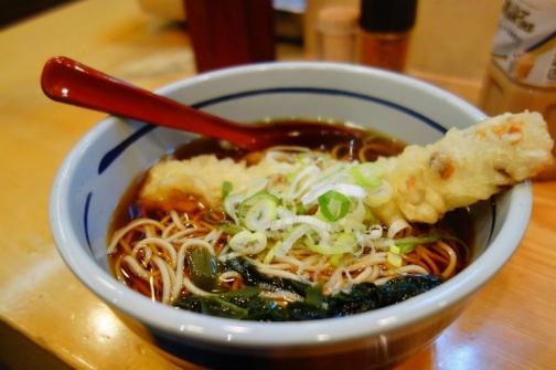 Soba noodles in broth & tempura (Tokyo, Japan)