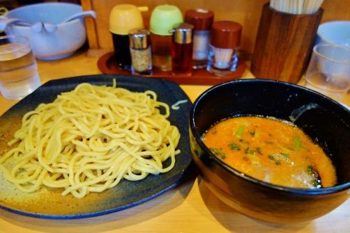Tsukemen with sesame-based broth (Tokyo, Japan)