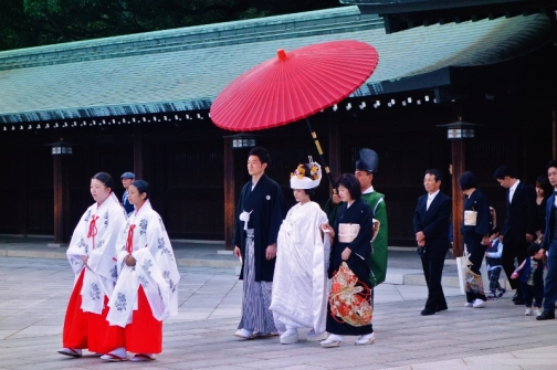 Traditional Shinto wedding, Meiji Shrine (Tokyo, Japan)