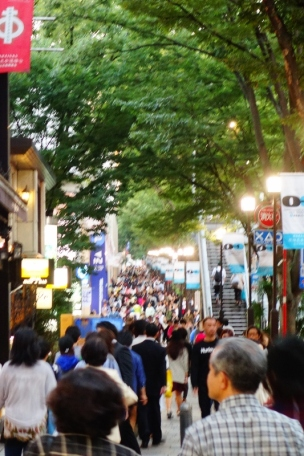 Crowded shopping streets of Shibuya district (Tokyo, Japan)