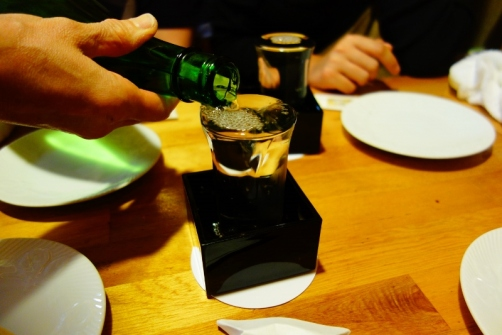 Sake by the glass (Tokyo, Japan)